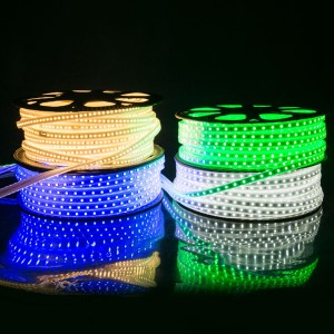 AC110V/220V SMD5050 60LEDS/M PVC RGB Strip 2 YEARS WARRANTY