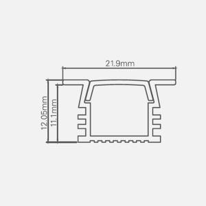 LED ΠΡΟΦΙΛ ΑΛΟΥΜΙΝΙΟΥ-PS2212 αλουμινίου Προφίλ Kit