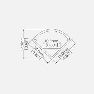 LED ALUMINUM PROFILE-PS1616 Aluminum Profile Kit